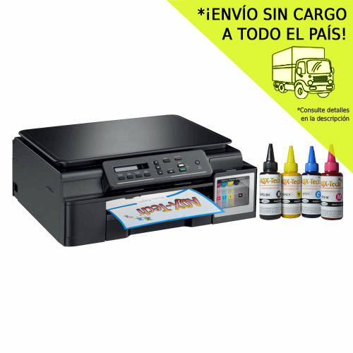 Impresora Multifuncion Brother T310 / T300 Sist Cont Orig + 400 ML AQX Sublimacion