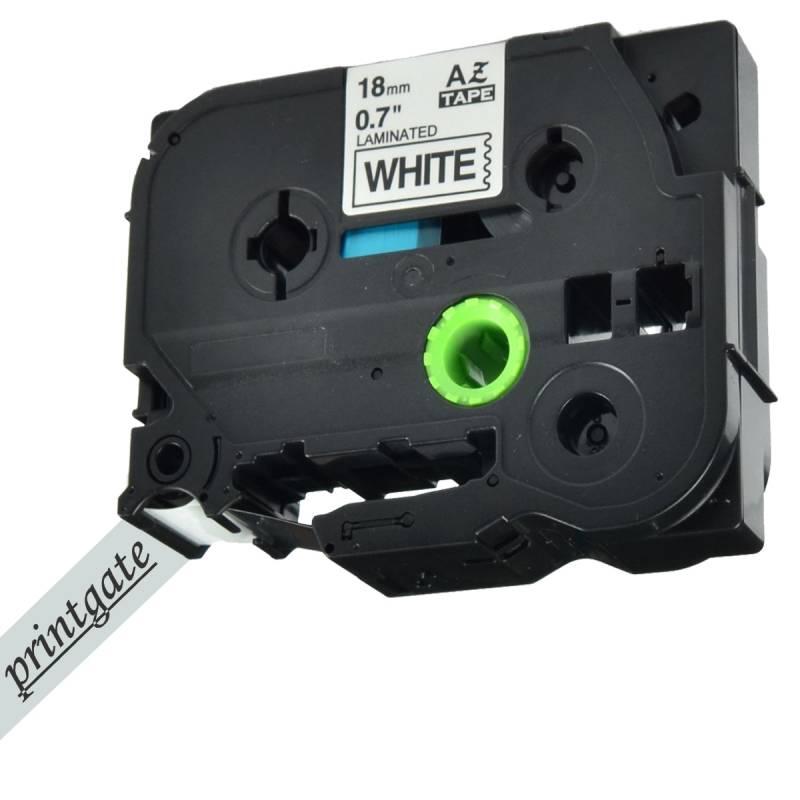 Cinta Rotuladora Printgate TZE 221 Blanco s/ Negro 9mm x 8m P/ Brother