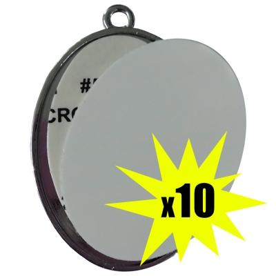 Colgante de Metal Ovalado Sublimable en ambas caras x 10 unidades