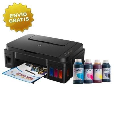 Impresora Multifuncion Canon Pixma G2100 + Tintas AQX 250x4