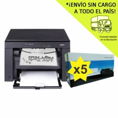 Impresora Canon Laser Multifuncion MF-3010 + 5 Toners AQX