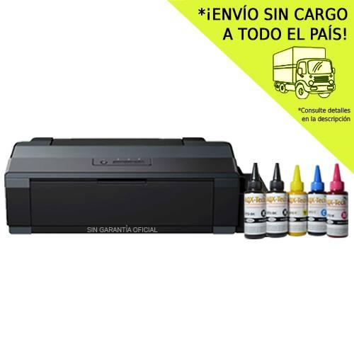 Impresora Sublimacion A3 Epson L1300 Sist. Cont. Orig. Con AQX Ink Subli x 500ml y Resma