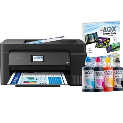 Impresora Multifuncion Epson Wifi L14150 Sist Continuo Incorporado Orig + Resma y 1000ml AQX-Tech Ink