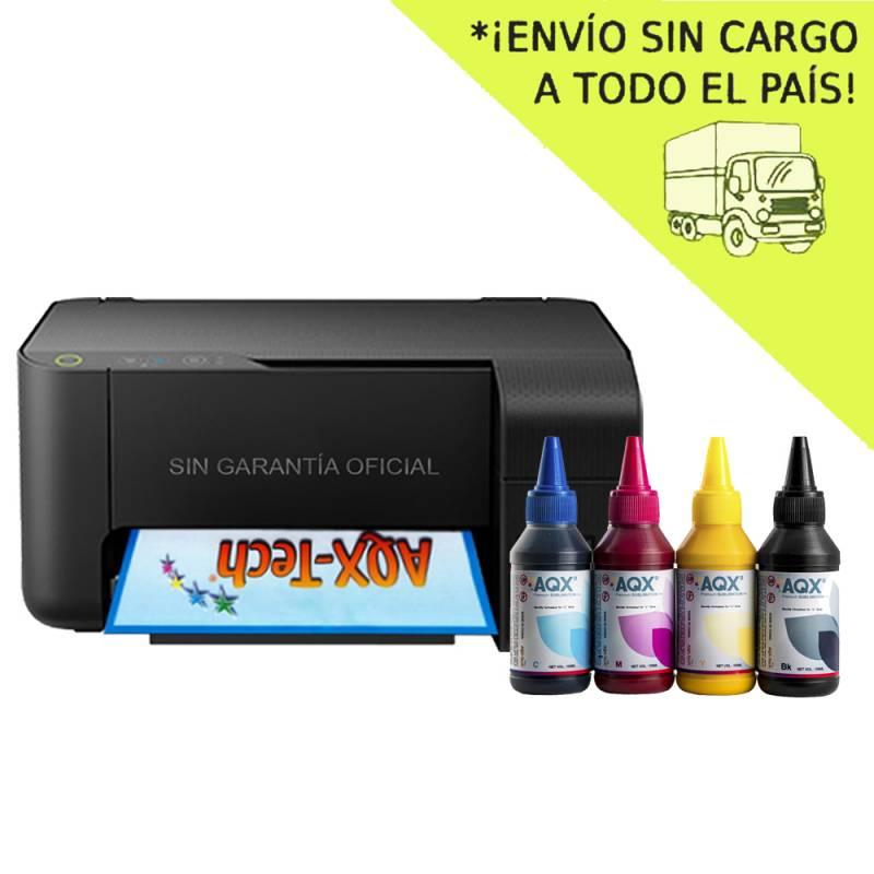 Impresora Sublimacion Multifuncion Epson L3110 Sist Cont Orig + 400ml AQX-Tech Sublimacion Premium