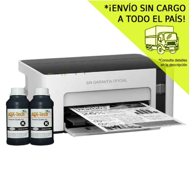 Impresora Epson Mono m1120 SC Orig. + 500ml AQX-Tech Ink