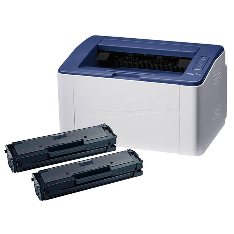 Impresora Laser XEROX 3020 + 2 Toner Alternativos 3020 AQX