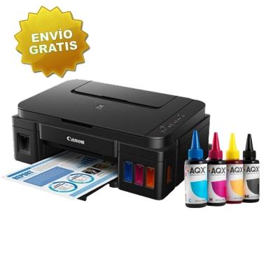 Impresora Multifuncion Canon Pixma G2100 + 400ml TINTA AQX-TECH