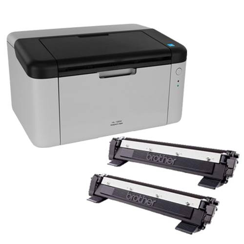 Impresora Laser Brother HL 1200 mas 2 Toner Orig Extra