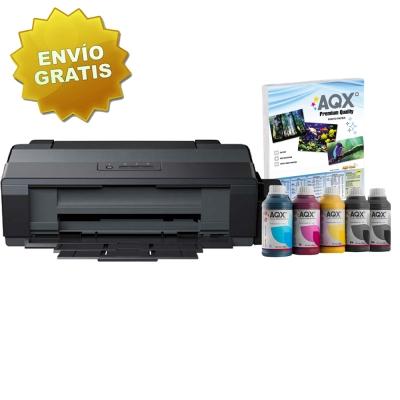 Impresora Sublimacion A3 Epson L1300 Sist. Cont. Orig. + 1250ml AQX-Tech Ink Subl y Resma