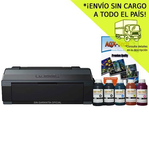 Impresora Epson A3 L1300 Sist Continuo Incorporado Orig + Resma y 1250ml AQX-Tech Ink