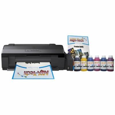 Impresora Para Sublimacion A3 L1800 CD DVD SC Orig. + Resma y 1500ml AQX-Tech Ink Sublimar