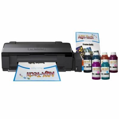 Impresora Epson A3 L1800 CD DVD Sist Cont Orig + Resma y 1500ml AQX-Tech Pro Ink