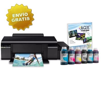 Impresora Epson L805 Sistema Continuo Original + 1500ML Tinta AQX-TECH