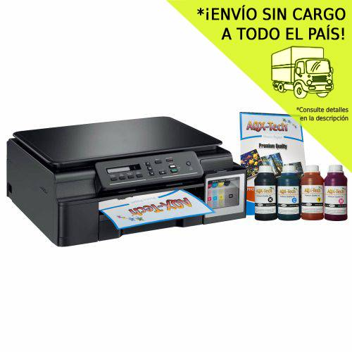 Impresora Multifuncion Brother T310 Sist Cont Orig + Resma y 1000ml AQX-Tech Ink