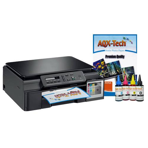 Impresora Multifuncion Brother T310 Sist Continuo Original + Tintas AQX-Tec 400ml + 1 Resma