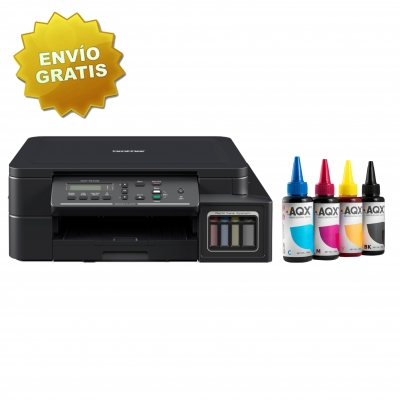 Impresora Multifunción Wifi Brother T510 Sist Continuo Orig. + 400ml AQX